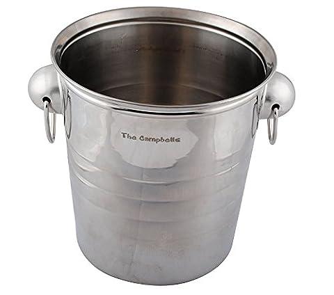 GP Ice Bucket Large Personalised Engraved Silver Metal Wine Ice
