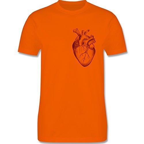 Nerds & Geeks - Herz Anatomie - Herren Premium T-Shirt Orange