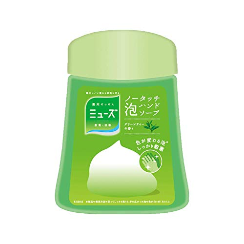 Earth Seiyaku Muse | Hand Soap | No Touch Bubble Hand Soap Green Tea Refill 250ml (japan import)