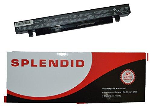 SPLENDID BRANDED - HIGH GRADE - 6 CELL LAPTOP BATTERY FOR ASUS X550 A41-X550 A41-X550A A32-X550 A32-X550A ( BLACK )