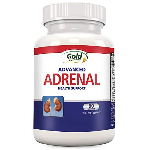 Nahrungsmittelergänzung zur Unterstützung der Nebenniere - Cortisol-Manager-Blocker - Gegen Müdigkeit und zur Verringerung von Cortex-Stress! Mit Ashwagandha, Rhodiala Rosea, Süßholzwurzel, L-Tyrosin -