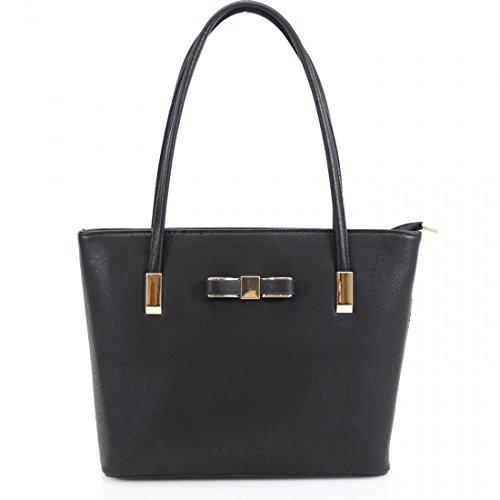 HB Style, Borsa tote donna Multicolore Multicoloured Black