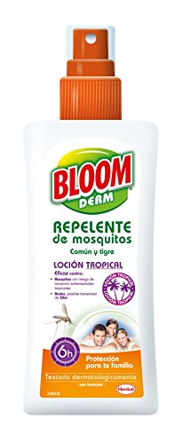Bloom Derm Loción Repelente Tropical 100 ml - Pack de 6 - Total: 600 ml