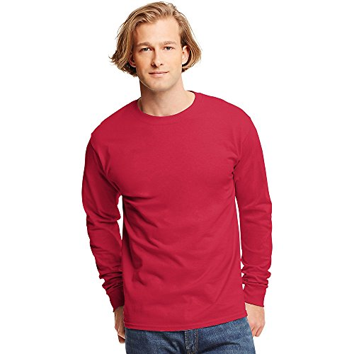 Hanes Tagless Long-Sleeve T-Shirt Deep Red