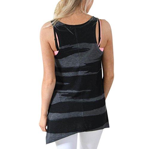 KingProst Damen Ärmellos Shirt Camouflage Crop Top Weste Tank Shirt Bluse Cami Top Schwarz