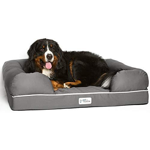 PetFusion Ultimate Haustierbett, Premium-Edition, Schaumstoff mit Formgedächtnis -