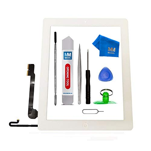 MMOBIEL Digitizer Compatible with iPad 4 (White) 9.7 Inch Touchscreen Front Display Assembly Incl Tool kit (Ipad 4 Ersatz-bildschirm)