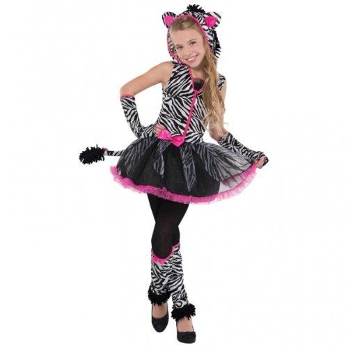Christy 's Mädchen Sassy Streifen Zebra Kostüm (14-16Jahre) (Für Mädchen Zebra-kostüme)