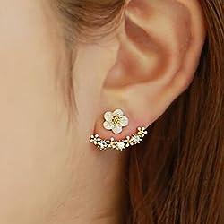 Daisy Flowers Earrings Little Daisy Flower After Hanging Stud Earrings for Lady Women Girls by lansue