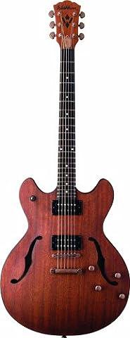 Washburn HB32 DM Hollow Body Guitar - Distressed Mahogany