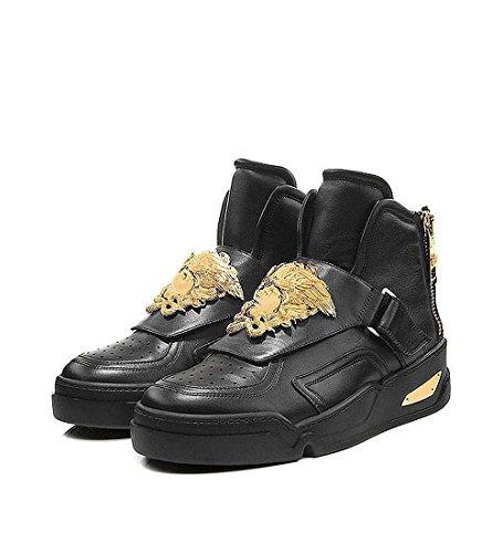 Versace Sneaker Vitello Schuh mit goldfarbener Medusa-Applikation DSU5643 DVG3G D41OH echt Leder, Limitierte Edition. Originalverpackte Neuware. Schuhgrösse 39