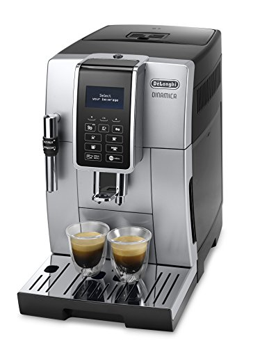 De'Longhi Dinamica ECAM 350.35.SB Kaffeevollautomat (Digitaldisplay, Profi-Aufschäumdüse,...