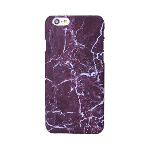 """iPhone 7 Coque , YIGA Motif Marbre Naturel Jaunâtre PC Plastique Dur Hard Bumper Case Cover Housse Etui pour Apple iPhone 7 4.7"""" A-6G-PC-HD8"""