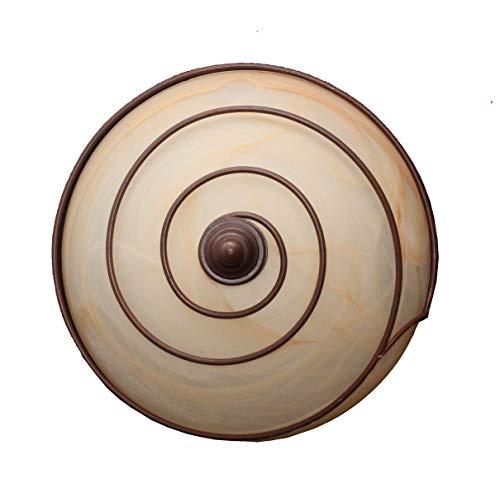 valfb36121al PL2Nr Vortice Made in Italy Deckenleuchte Lampe Innen Decke aus Schmiedeeisen schwarz/rost Glas Alabaster Bernstein Produkt von Valastro Beleuchtung - Bernstein Metall-stehlampe