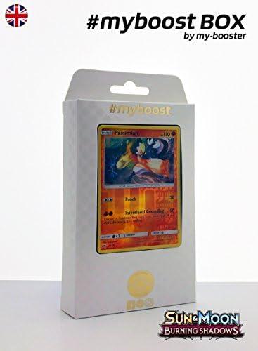 Coffret #myboost PASSIMIAN (Quartermac) 79/147 - Sun Sun - and Moon 3 Burning Shadows - 10 Cartes Pokemon anglaises B0756F62F2 524134
