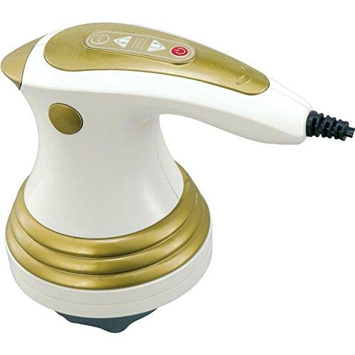 Voll Matratze Topper (Massagegeräte für Rückenschmerzen Elektrische Nackenmassage Deep Tissue Percussion Massage mit variabler Geschwindigkeitssteuerung, ohne Griff Design, 3 austauschbare Massageköpfe , white)
