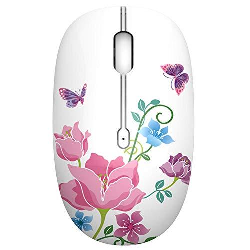 LJSHU Drahtlose Maus Ergonomische 2,4 G Photoelektrische USB-Verbindung Wassertransfer 1600 DPI Office Home Notebook Desktop Damen Maus,B