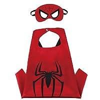 Blingbling Superhero CAPE & MASK SET Kids Childrens Halloween Costume Spiderman