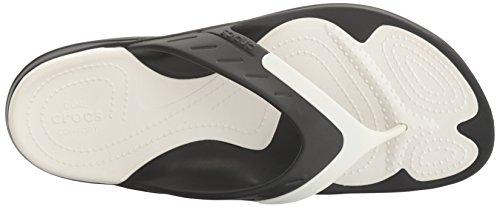 crocs Unisex-Erwachsene Modi Sport Flip Zehentrenner Black/White