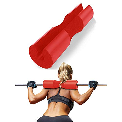FITSY® Foam Barbell Squat Pad for Standard and Olympic Bar - Red