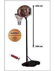 Hudora Chicago - Canasta de baloncesto (con pelota y bomba, hasta 2,60 m)
