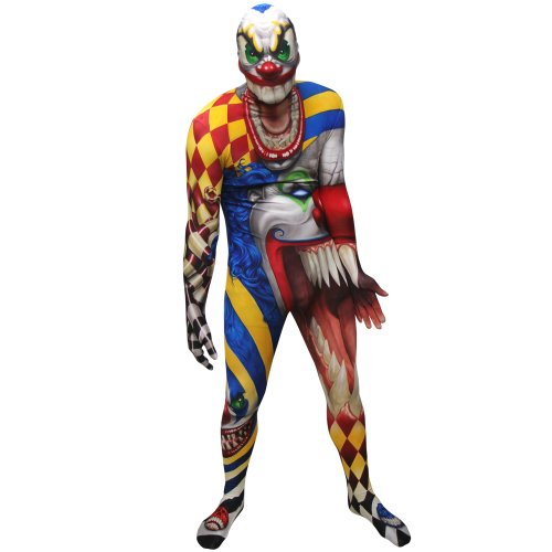 Clown Morphsuit Verkleidung, Kostüm XXLarge - 6'2-6'9 (186cm-206cm)
