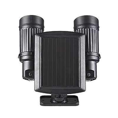 elecfan Solar Sicherheits Lichter Solarlampe Dual Head Yard Garden Spotlight Justierbare Wasserdichte von elecfan
