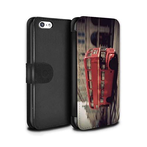 le/Case/Tasche/Cover für Apple iPhone 5C / Rot Bus Muster / London England Kollektion (Iphone 5c-london Fall)