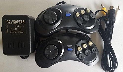 Classic Game Source Inc. Ersatz-AC Adapter Netzkabel Kabel mit A / V Audio-Video-Kabel und 2 Controller-Pads für Sega Genesis Gen 1 Bundle Pack 1 Source Video