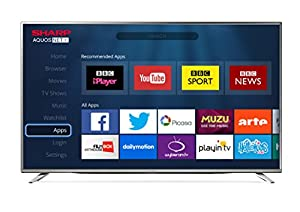 Sharp 43-Inch 4K Ultra HD Smart TV with Freeview HD - Silver