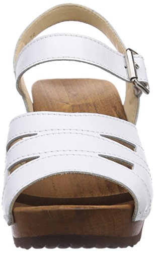 Woody Simone, Mules Femme blanc (Weiss)