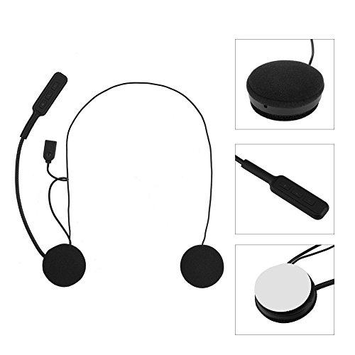 Vbestlife bluetooth senza fili cuffia intercom casco auricolare sport casco bluetooth interphone con microfono per cellulare