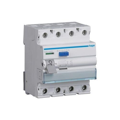 'Hager cdc440d-Interruptor diferencial (4P 40A 30MA AC