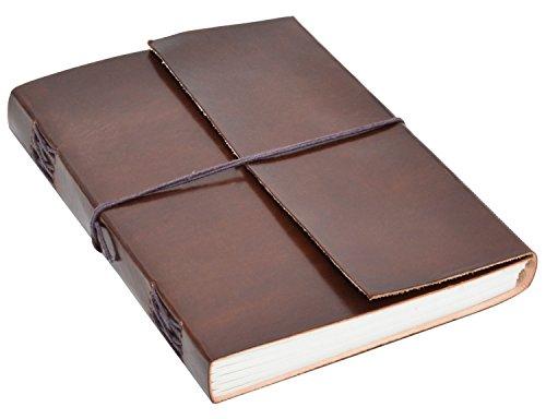 Notizbuch Gusti Leder 'Ela' DIN B5 Echtes Leder | Handgeschöpftes Papier Nachfüllbare Seiten |...