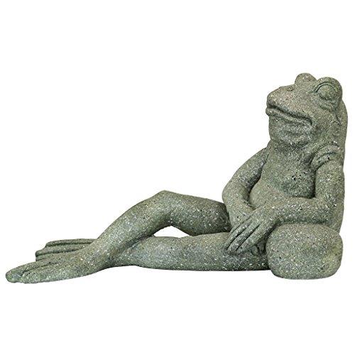 Design Toscano Die interessanteste Kröte der Welt Froschgarten-Statue, Steingrau