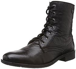 Alberto Torresi Mens Black Leather Boots - 10 UK