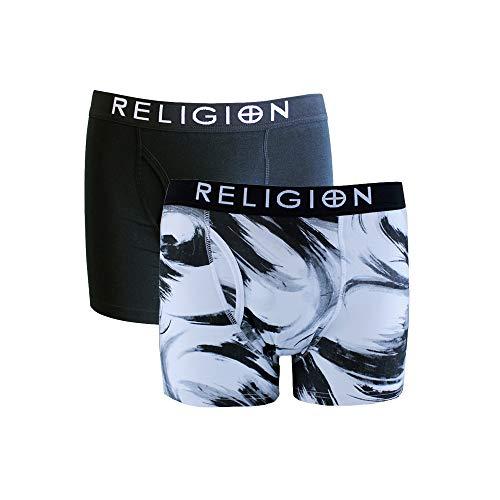 Religion Herren Boxershort, Gestreift Weiß weiß Gr. S, weiß