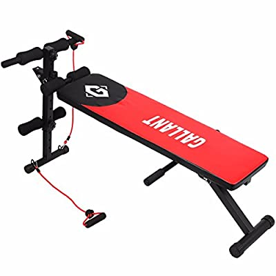 Gallant Sit Up Bench AB Abdominal Crunch Exercise Board Slant Fitness Training Abs Workout Weight Bench Best Sit Up Machine Abdominal Exercise Bench by Gallant Sports