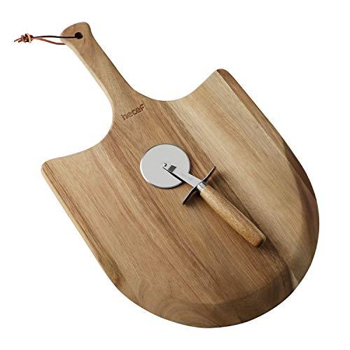 Hecef - Paleta madera acacia pizza tabla cortar 12