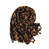 Yuyuetechnology Mujer Leopardo Impresión Sexy Bufanda Señoras Mantener Caliente Largo Fular Chal,Photocolor,180 * 100Cm