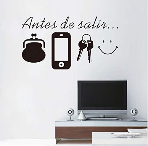 r Spanisch Bevor Erinnerung Vinyl Zitate Wandaufkleber Dekoration Wohnzimmer Wandaufkleber Türen Poster Tapete ()
