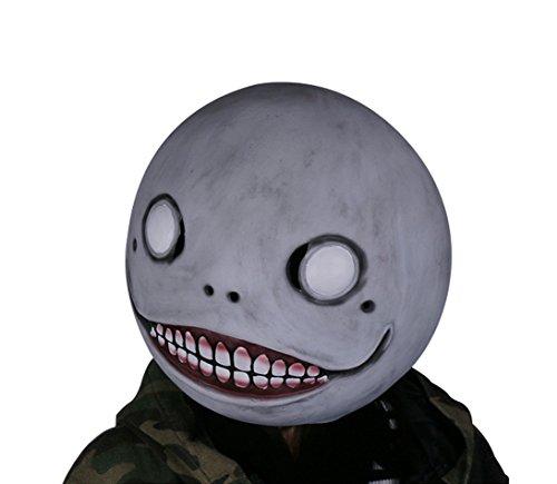Halloween Emil Maske Grau Latex Voll Kopf Helm Erwachsene Verrückte Kleid Cosplay Kostüm Zubehör für Film Replik