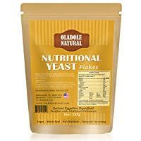 Oladole Natural Pure Natural Nutritional Yeast Flakes (8 oz.) Whole Food Based Protein Powder, Vitamin B Complex, Beta-glucans and all Amino Acids