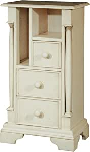 SHABBY CHIC FRENCH STYLE CANTERBURY ANTIQUE IVORY ORNATE TELEPHONE HALL END SIDE TABLE - STUNNING QUALITY ** A RANGE OF MATCHING FURNITURE IS AVAILABLE FOR YOUR BEDROOM - VERSATILE PIECES FOR ANY ROOM AT HOME **