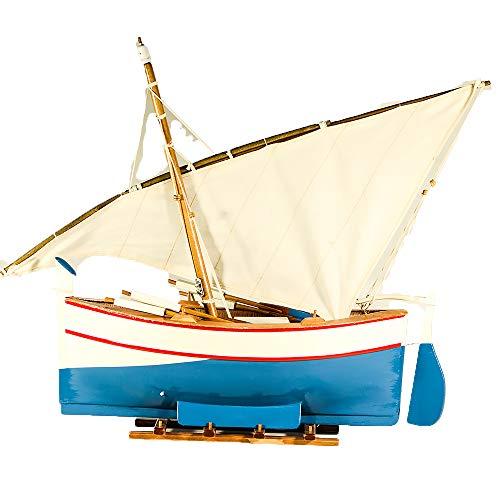 UniqueGift Deko-Figur Segelboot auf Sockel - Schauen Sie Sammlerstück Holz Boot Modell Ornament - Tischplatte Boot Boot Ornament - nautische Dekoration