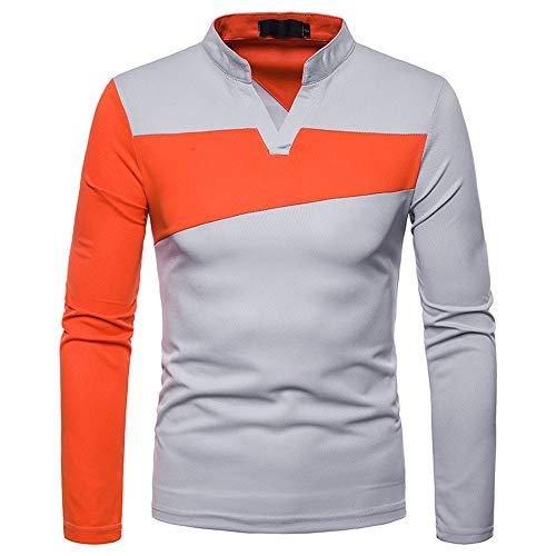 TWBB Herren Bekleidung Horizontale Streifen Polo Shirt Slim-Fit -