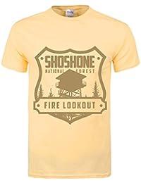 Grindstore Men's Shoshone Fire Lookout T-Shirt Haze Yellow
