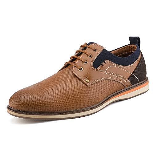 Bruno Marc LG19010M Zapatos de Cordones Vestir Oxford Informal para Hombre Bronceado 46 EU/12 US