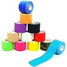 6 Rollen Kinesiologie Tape 5 m x 5,0 cm in 12 Farben