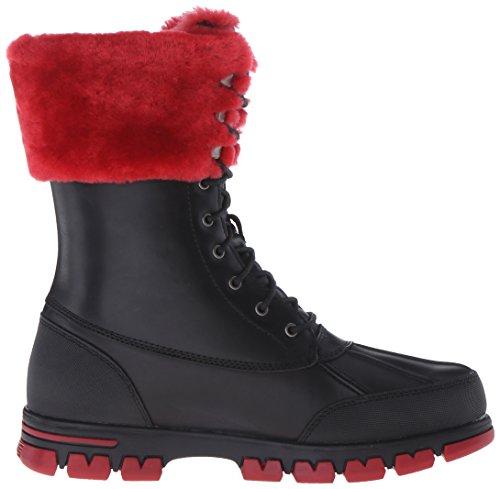 Lauren Ralph Lauren Quinta Cuir Botte d'hiver Black-Red